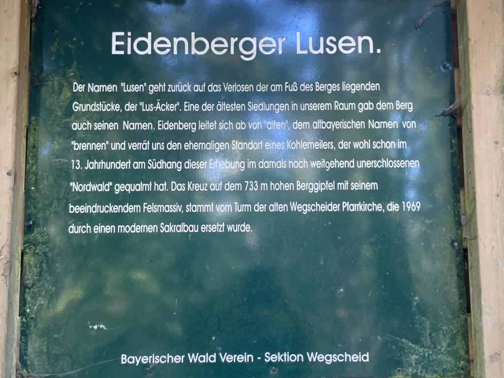 Wandern 10.2019 Unser heuriges Ziel war der Eidenberger Lusen