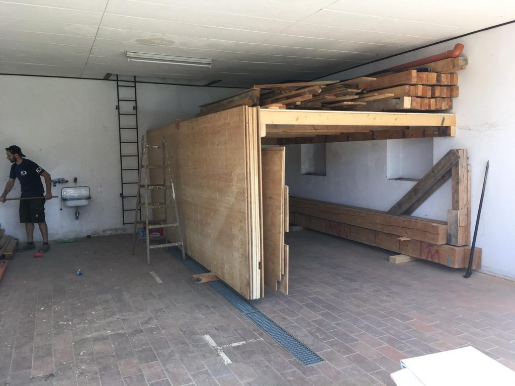 Umbau altes Zeughaus 06.2020 Zwischenboden ist fertig